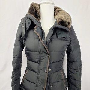 Zara XS Black Down & Waterfowl Feathers Jacket